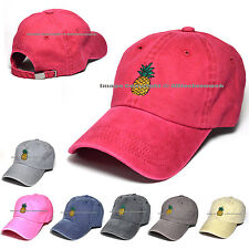 Pineapple Hat Baseball Cap Polo Style Cotton Unconstructed Hats caps Multi Color