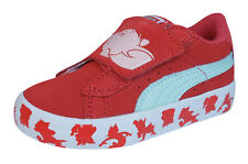 Puma S Vulc Tom and Jerry Kids Suede Sneakers / Shoes - Red