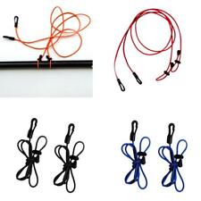 2Pcs 120cm 4mm Kayak Canoe Paddle Leash Bungee Safety Fishing Rod Lanyard Cord