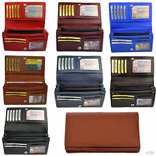 Ladies - Wallet with 19 Compartments in fine Cattle leather / Wallet Purse