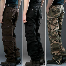 2017 New Men Casual Military Army Cargo Camo Tactical Combat Work Pants Trousers