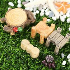 Miniature DIY Bridge Stump Garden Fairy Bonsai Ornament Landscape Decor Figurine