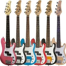 """Raptor 38"""" Kid's 3/4 Size Junior Kid's 4 String Electric P Bass Pack - 5 COLORS"""