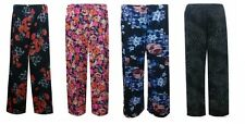 WOMENS LADIES FLORAL PRINT PALAZZO TROUSERS SUMMER WIDE LEG PANTS PLUS SIZES