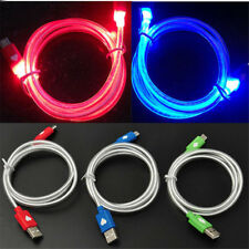 1M Glow LED Light USB Charger Data Sync Cable Line For iPhone 5S 6 6S 7 Plus 3FT