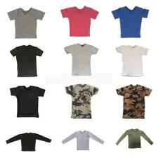 """1/6 Scale Men's Short/Long Sleeve T-shirt For 12"""" Action Figure Body Hot Toys"""