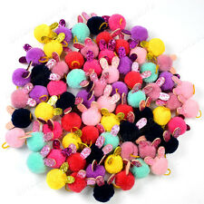 """Pet Puppy Dog Cat Hair Bows Pompom with Rabbit Ears Dog Hair Accessories 0.98"""""""