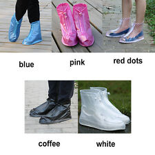 Reusable Waterproof Rain Shoes Cover Boots Flat Overshoes Cover Slip Resistant