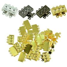 20pcs 18mm 3 Stand Box Clasps Clips Bag Key Ring Hook Necklace Findings Keychain