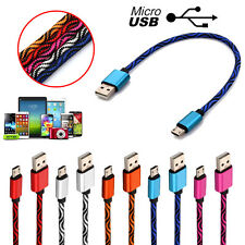 0.28M-3M Braided Nylon Micro USB Charger Sync Data Charging Cable Cord for Phone