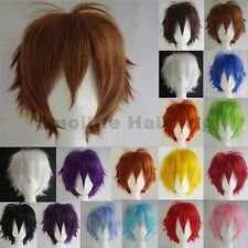 Cool Fluffy Straight Anime Wigs Short Pixie Hair Wig Cosplay Party Women Mens la