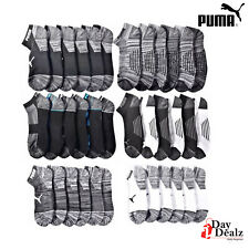 PUMA MEN'S HALF TERRY CUSHIONED LOW CUT ATHLETIC SOCKS 6 PACK (COLORS AVAILABLE)