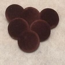 Brown Velvet Fabric Buttons, 16mm, 20mm, 25mm, 31mm, Small, Medium & Large