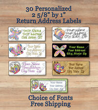 30 CUSTOMIZED Personalized Colorful Spring BUTTERFLY Return Address Labels