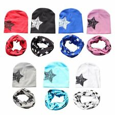2pcs/set Toddler Infant Kids Newborn Baby Hat Cap +Star Print Neck Scarf Collar