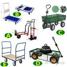 Heavy Duty Garden Hand Trolley Cart Sack Truck Wheelbarrow Trailer Transport New