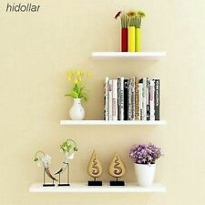 3PCS SOLID FLOATING SHELF SET WALL SHOP DISPLAY CONCEAL FITTING MAT WHITE 406080