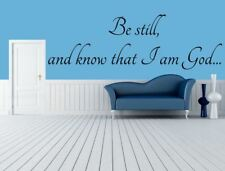 Be Still and Know that I am God- Christian Vinyl Wall Art -  Bible Wall Decal