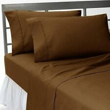 1000 TC EGYPTIAN COTTON CHOCOLATE SOLID BEDDING ITEMS EXTRA DEEP POCKET FITTED