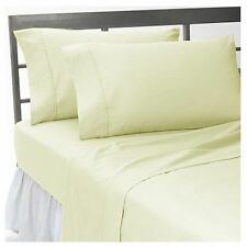 1000 TC EGYPTIAN COTTON IVORY SOLID BEDDING ITEMS EXTRA DEEP POCKET FITTED