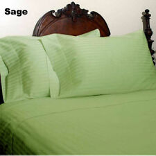 1000TC EGYPTIAN COTTON SAGE STRIPE BEDDING ITEMS EXTRA DEEP POCKET FITTED