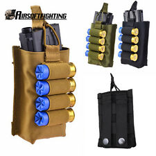 Tactical MOLLE 4 Rounds Bag Single 5.56mm Magazine Pouch with 12 20GA Shotgun