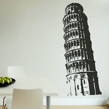 LEANING TOWER OF PISA HUGE WALL ART STICKER DECAL huge removable vinyl uk RA11