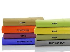 1000 Thread Count Best Egyptian Cotton Fitted Sheet+Pillow Cases All Sizes&Color