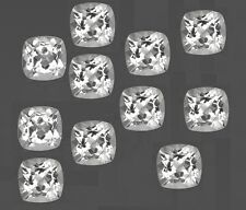 Natural White Topaz Cushion Faceted Cut Calibrated Size 4mm - 8mm Loose Gemstone