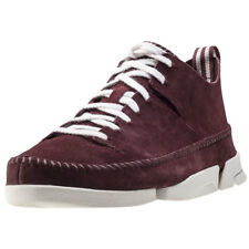 Clarks Originals Trigenic Flex Mens Red Suede Casual Trainers Lace-up New Style