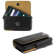 Leather Horizontal Cover Case Holster Pouch + Belt Clip for Huawei Phones New