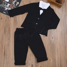 3Pcs Baby Boys Kid Toddler Formal Shirt Pants Romper Outfits Gentleman Set Party