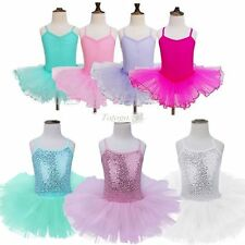 Kids Girls Gymnastics Ballet Dress Leotard Tutu Skirt Dancewear Fancy Costumes