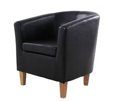 Chair Leather Armchair Dining Living Room Modern Furniture Seat Lounge Office