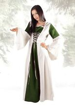 Medieval Gothic Larp Hood Robe Front Lacing Dress 36 38 40