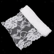 5 Yards Embroidered Lace Trim Mesh Ribbon Applique for Embellishment White/Black