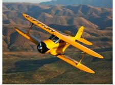 Poster Print Wall Art entitled A Beechcraft D 17 Staggerwing in flight