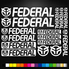 Federal bmx Vinyl Decal Stickers Sheet Bike Frame Cycles Cycling Bicycle Mtb
