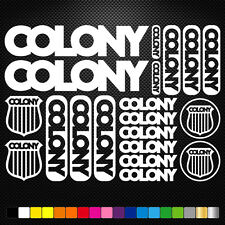 Colony BMX Vinyl Decal Stickers Sheet Bike Frame Cycles Cycling Bicycle Mtb Road
