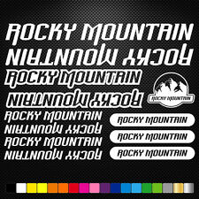 Rocky Mountain Vinyl Decals Stickers Sheet Bike Frame Cycle Cycling Bicycle Mtb
