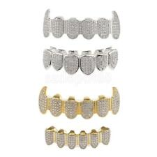 18K Gold Plated Grills Set Hip Hop Grills Top Bottom Bling Mouth Teeth Caps