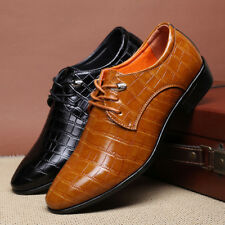 Men's New Leather Pointy Toe Lace Up Formal Dress Wedding Shoes Oxfords British