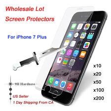 NEW 100x Wholesale Lot Tempered Glass Screen Protector for iPhone 7 Plus