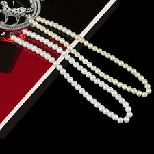 8mm AAA White South Sea Shell Pearl Necklace Earring Set