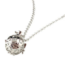 Women Perfume Essential Diffuser Oil Sweater Necklace Open Long Chain Pendant