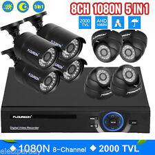 1TB HDD 1080N 8CH HDMI DVR 2000TVL Camera Home CCTV Surveillance Security System