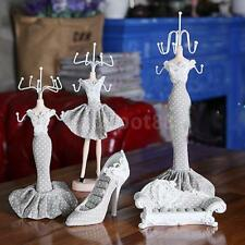 Charm Shoe Dress Mannequin Ring Necklace Jewelry Organizer Display Stand Hanging