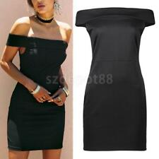 Sexy Womens Off Shoulder Bandage Bodycon Party Evening Ladies Short Mini Dress