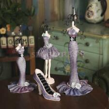 Purple Mixed Styles Shoe Dress Mannequin Jewelry Organizer Display Stand Hanging