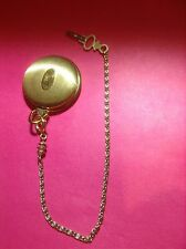 UNIQUE  POCKET WATCH CHAIN WITH WIND UP KEY FOB